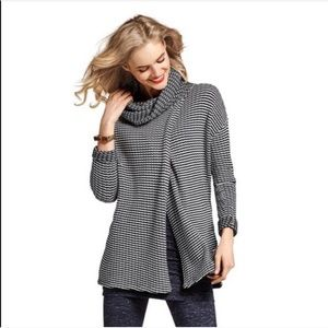 Cabi • Fergie Turtleneck Striped Split Sweater